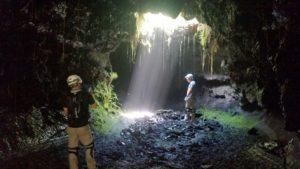 puits de lumière dans le tunnel de lave de 2004