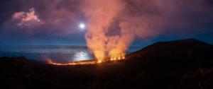 Le volcan du piton de la fournaise de la Réunion