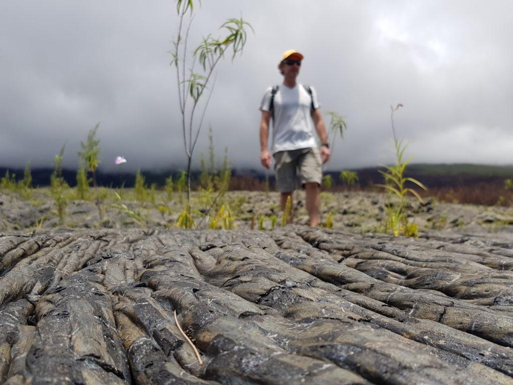 lave cordée coulée de lave de 2004 tunnel de lave